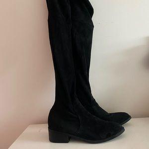 LIPSTICK knee high boots